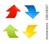 colorful vector arrows on grey...   Shutterstock .eps vector #148118267