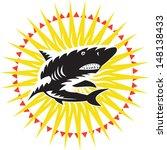 illustration of a shark... | Shutterstock .eps vector #148138433