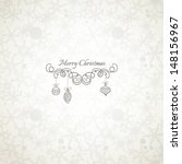 christmas background in retro... | Shutterstock .eps vector #148156967