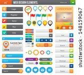 elements for website  color... | Shutterstock .eps vector #148159067