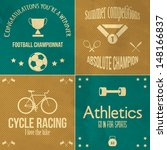 athletics icons set  | Shutterstock .eps vector #148166837