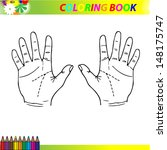 hands coloring. | Shutterstock .eps vector #148175747