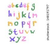 retro cartoon alphabet | Shutterstock .eps vector #148191797