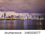 chicago at night  | Shutterstock . vector #148203077