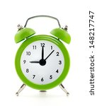 Green  Old Style Alarm Clock...