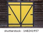 blue yellow wooden barn door | Shutterstock . vector #148241957