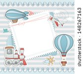 airship,art,artwork,baby,background,balloon,beautiful,birthday,border,boy,card,child,collection,color,creative