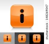 information icon set. orange...