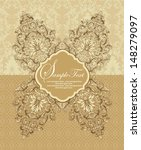 vintage damask invitation card | Shutterstock .eps vector #148279097