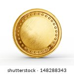 gold coin isolated on a white... | Shutterstock . vector #148288343