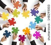 teamwork and integration... | Shutterstock . vector #148295003