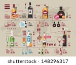 drinks info graphic vector... | Shutterstock .eps vector #148296317