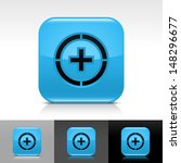 plus in circle icon. blue color ...