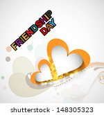happy friendship day background ... | Shutterstock .eps vector #148305323