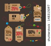 price and sale tags retro color ... | Shutterstock .eps vector #148315097