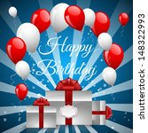 illustration for happy birthday  | Shutterstock .eps vector #148322993