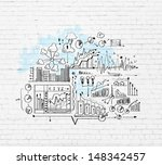 business ideas sketch image on