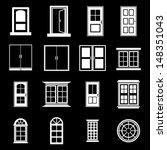 door and window vector   white   Shutterstock .eps vector #148351043