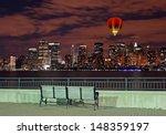 the new york city skyline from...   Shutterstock . vector #148359197