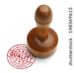 Red Superior Quality Stamp Wit...