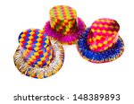 party hat isolated on white... | Shutterstock . vector #148389893