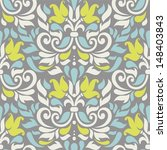 Vector Seamless Floral Colorfu...