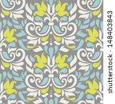 Vector Seamless Floral Colorfu...