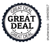Great deal grunge rubber stamp, vector illustration