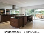 modern and spacious kitchen... | Shutterstock . vector #148409813
