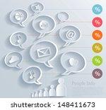 social media concept | Shutterstock .eps vector #148411673