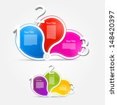 one  two  three  colorful... | Shutterstock .eps vector #148420397