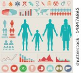 medical infographic set. vector ... | Shutterstock .eps vector #148476863