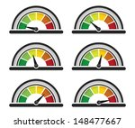 set of performance or speed... | Shutterstock .eps vector #148477667
