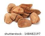 studio shot of brazil nuts on...   Shutterstock . vector #148482197