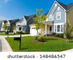street of residential houses | Shutterstock . vector #148486547