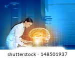 image of young woman doctor.... | Shutterstock . vector #148501937