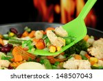 casserole with vegetables and... | Shutterstock . vector #148507043