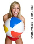 Beach Ball Woman