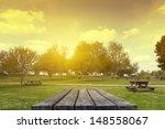 picnic table   Shutterstock . vector #148558067