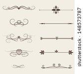 vector set  calligraphic design ... | Shutterstock .eps vector #148573787