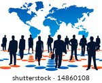 illustration of people and map | Shutterstock .eps vector #14860108