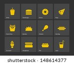 fast food icons. vector... | Shutterstock .eps vector #148614377