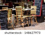 cafe at rue mouffetard in paris ... | Shutterstock . vector #148627973