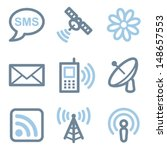communication icons  blue line... | Shutterstock .eps vector #148657553