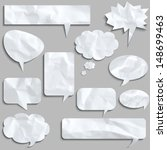 speech bubbles made of creased... | Shutterstock .eps vector #148699463