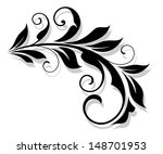retro flourish element with... | Shutterstock .eps vector #148701953