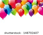 Color Balloons Background With...