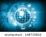 digital image of globe with... | Shutterstock . vector #148719833