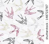 vintage bird pattern with... | Shutterstock . vector #148723787