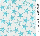 sea stars pattern. travel sea... | Shutterstock .eps vector #148738007